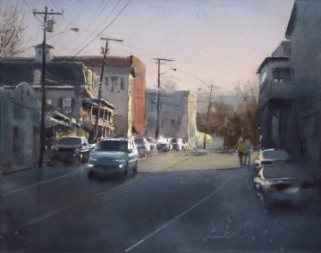 Anytown, USA (2018) by Frank Eber. Award of Excellence in Watermedia, 2018 AIS Annual Exhibition.
