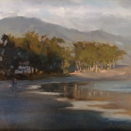 San Simeon Delight, oil on board