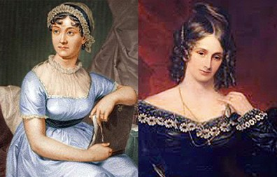 Jane Austen and Mary Shelley