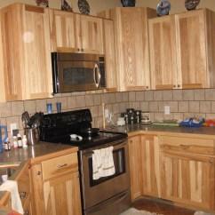 Hickory Kitchen Cabinets Storage Franker Enterprises Inc Natural