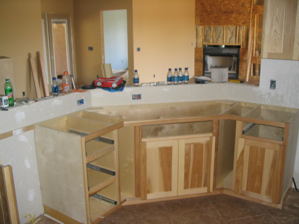 hickory kitchen cabinets white stone countertops franker enterprises inc natural