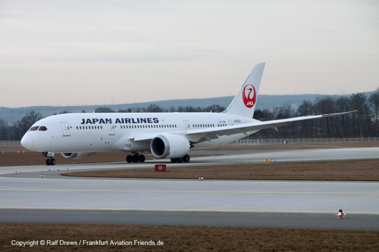 ... or will even use the last exit as this JAL Dreamliner....
