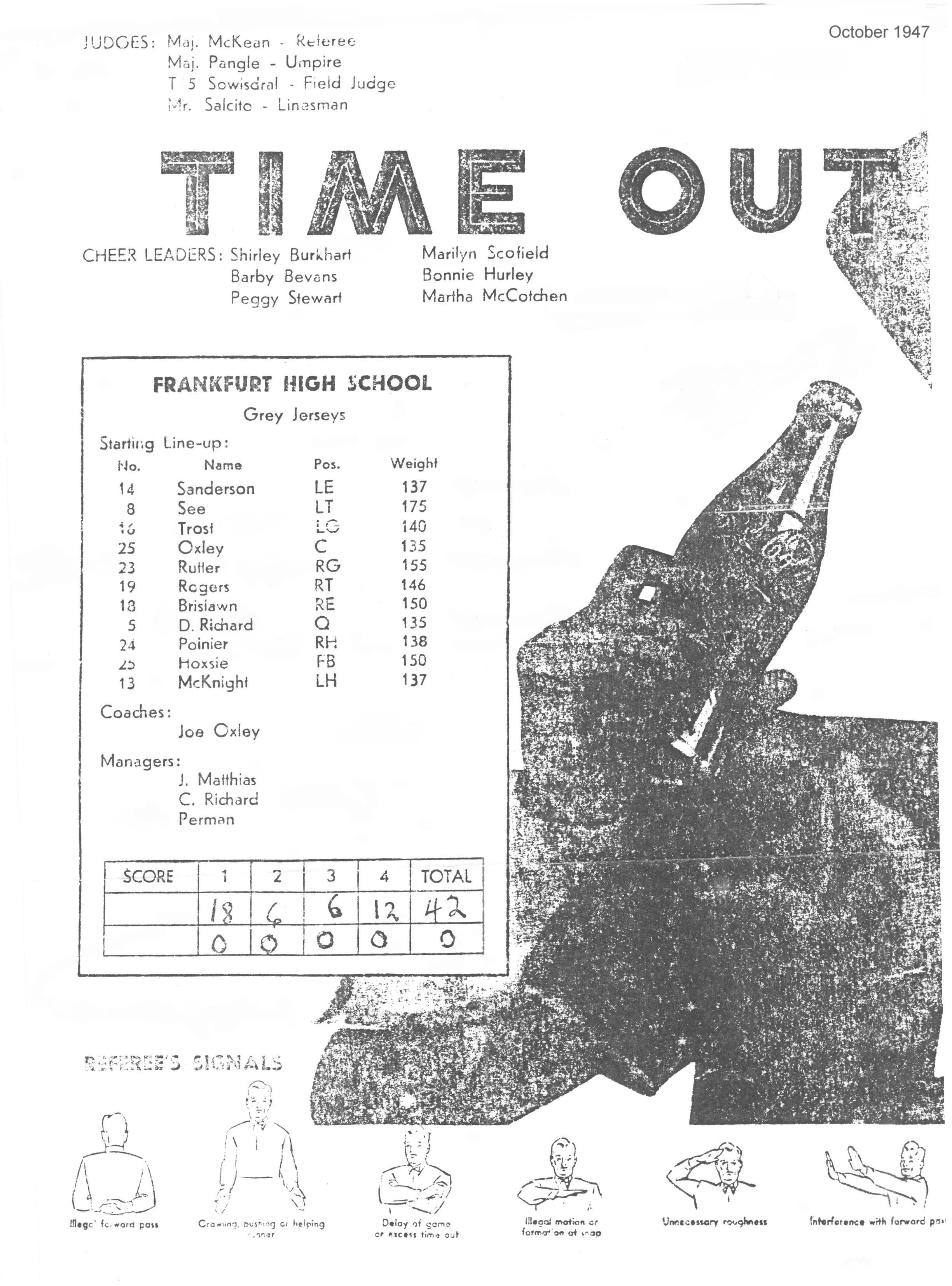 FAHS Dackel Years 1946-1955