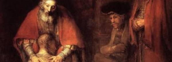 """Artwork: """"The Return of the Prodigal Son"""" by Rembrandt 1669"""