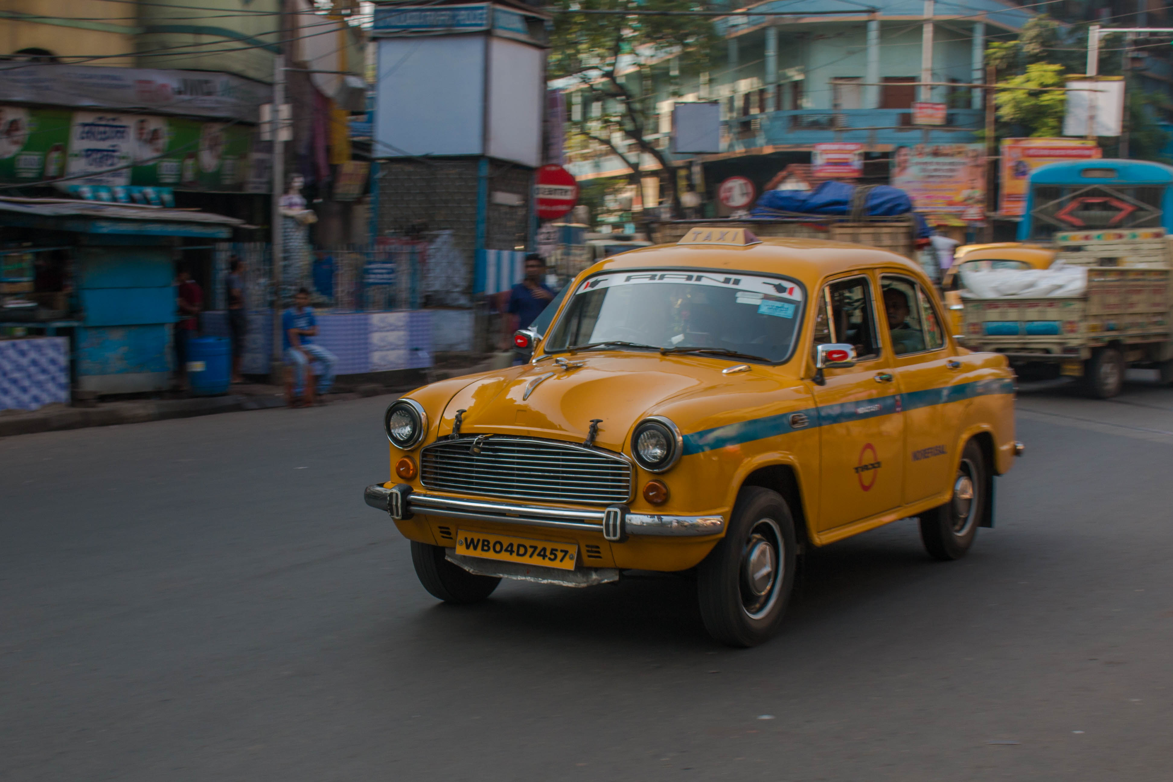 The famous yellow cabs in Kolkata