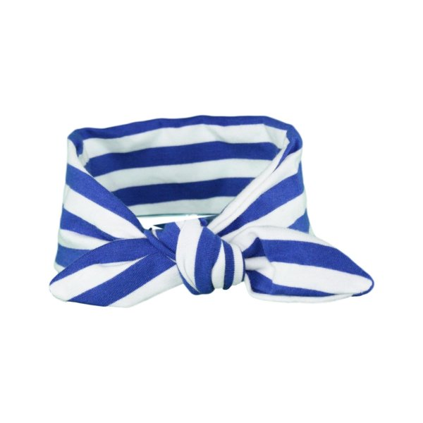 Blue & White Stripey Baby/Toddler Hair Wrap