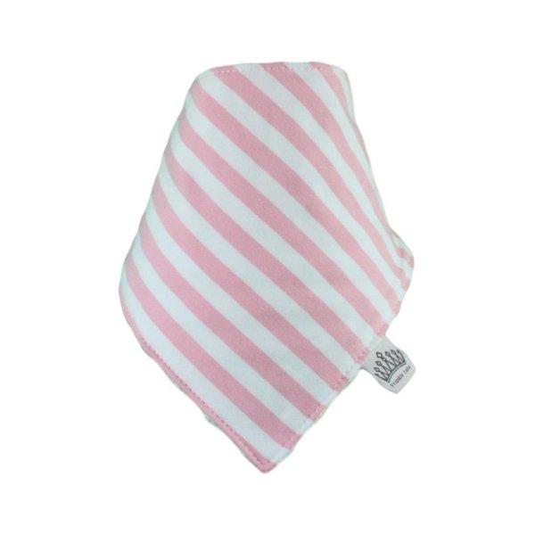 Light Pink & White Stripey Bib
