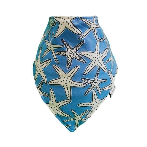 Blue Star Fish bib