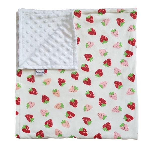 Strawberry explosion baby blanket