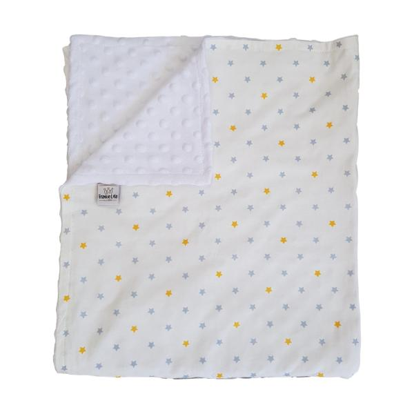 Yellow Grey Star Baby Blanket
