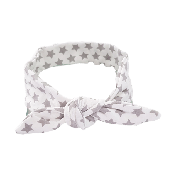 Grey Stars Hair Wrap