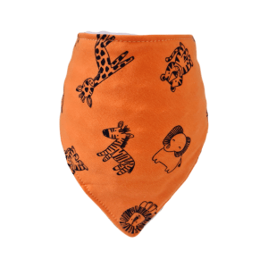 Orange Zoo Animals Bandana Bib