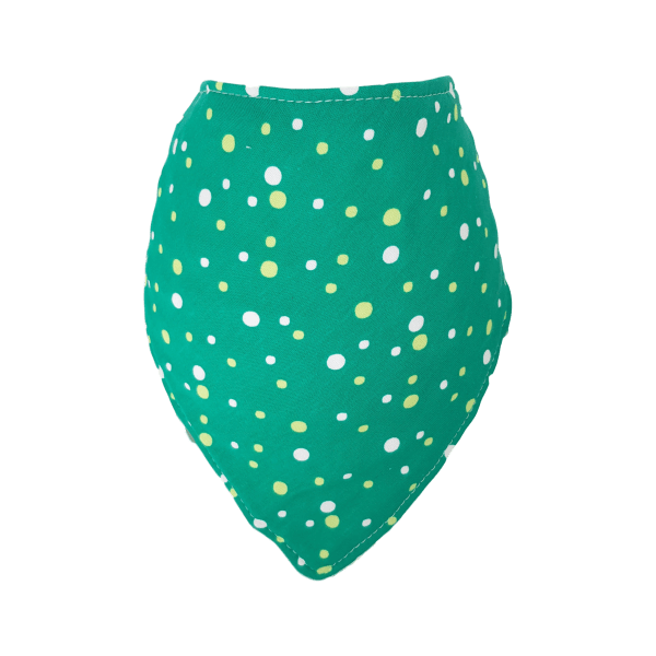 Green Spotty Bandana Bib