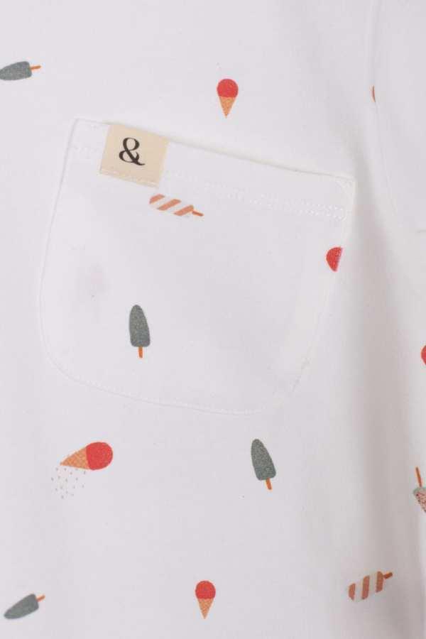 Produktfoto: T-Shirt aus Bio-Jersey für Kinder, Detail