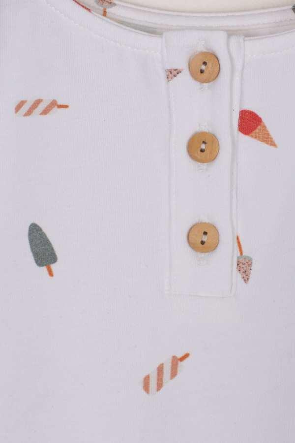 Produktfoto: Body mit sommerlichem Eis-Print für Babys, Detail
