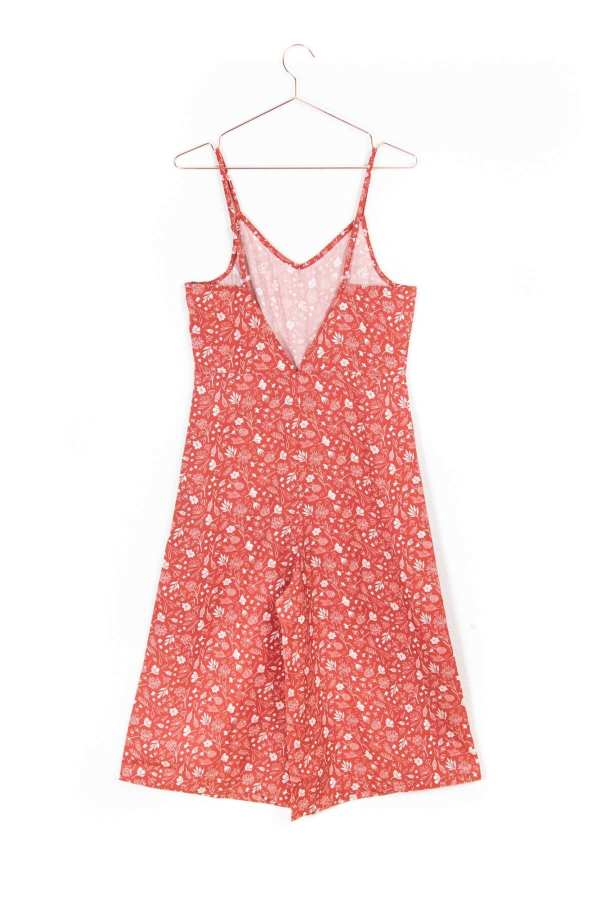 Produktbild: Culotte-Einteiler florales Muster, Rückseite