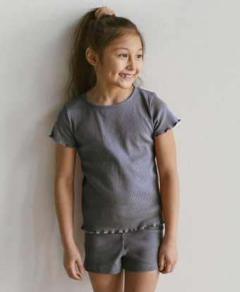 T-Shirt aus Rib Jersey für Kinder