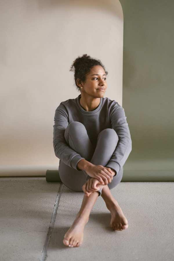 Sweat Hose in slate für Frauen
