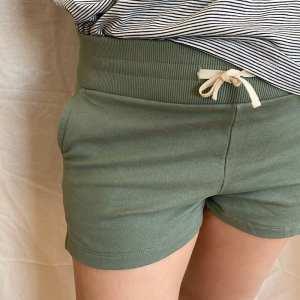 Sweat Shorts Frauen, sage