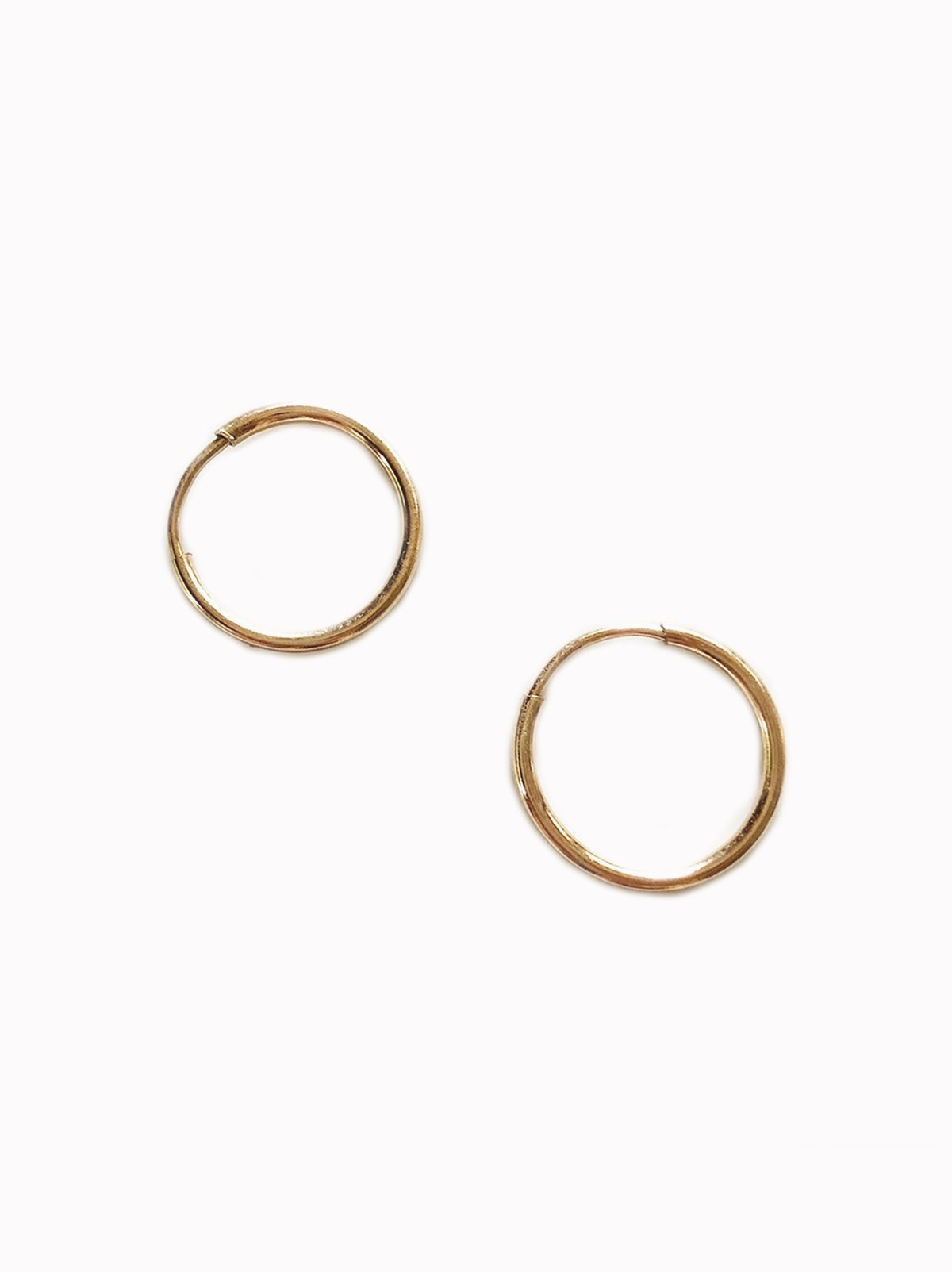 Tiny Endless Hoop Earrings