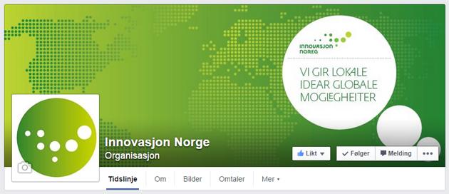 Innovasjon Norges profil på Facebook