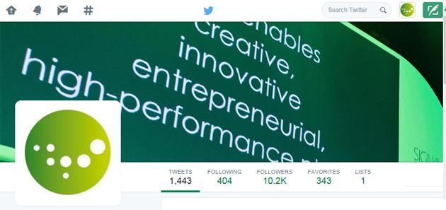 Mer enn 10.000 følger nå Innovasjon Norge på Twitter.