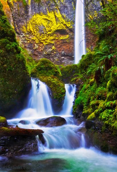 Falls Wallpaper Waterfall Elowah Falls Columbia River Gorge Frank Leblanc