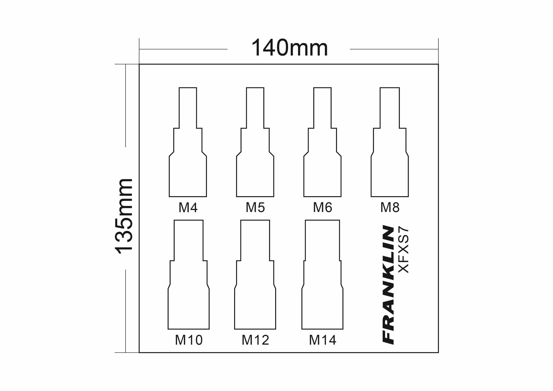 Franklin Xf 7 Pce Spline Bit Socket Set 3 8 Dr