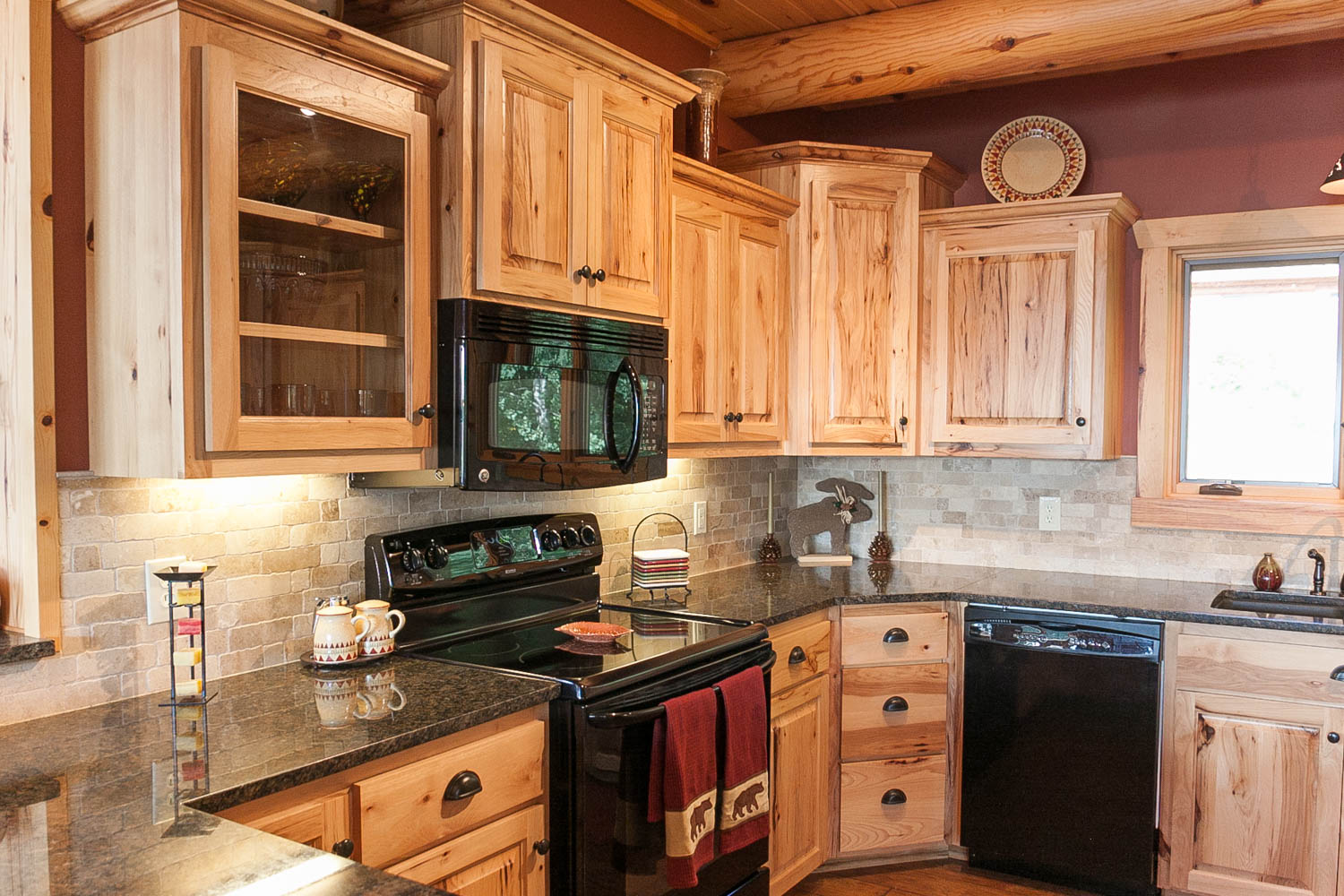 large kitchen island with seating and storage california pizza app lake home   cook, mn - franklin builders