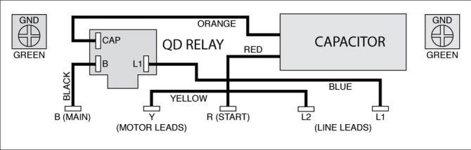 pump also 3 phase motor capacitor wiring diagram on wiring