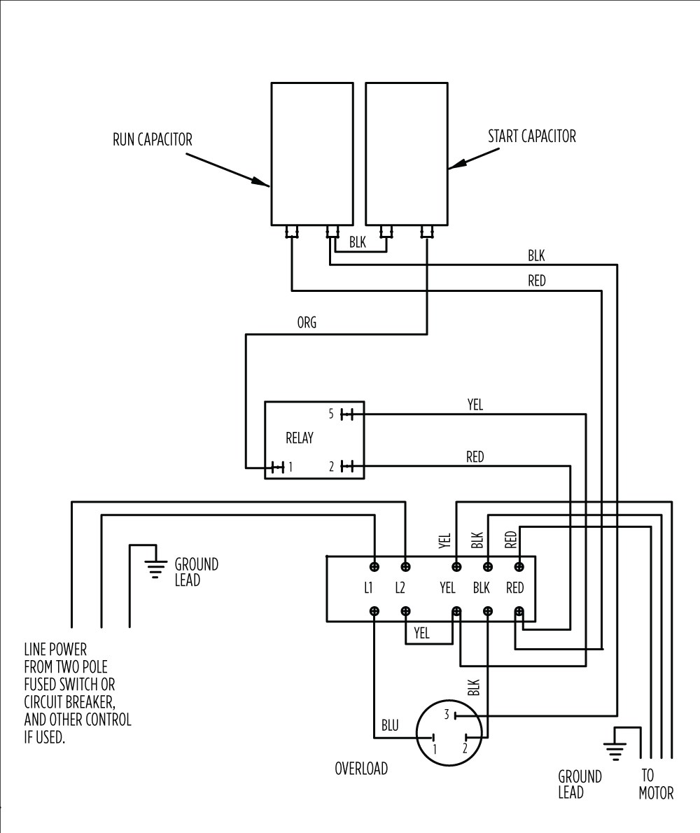 aim manual page 54 single phase motors and controls motor electric motor wiring control box wiring [ 1000 x 1190 Pixel ]