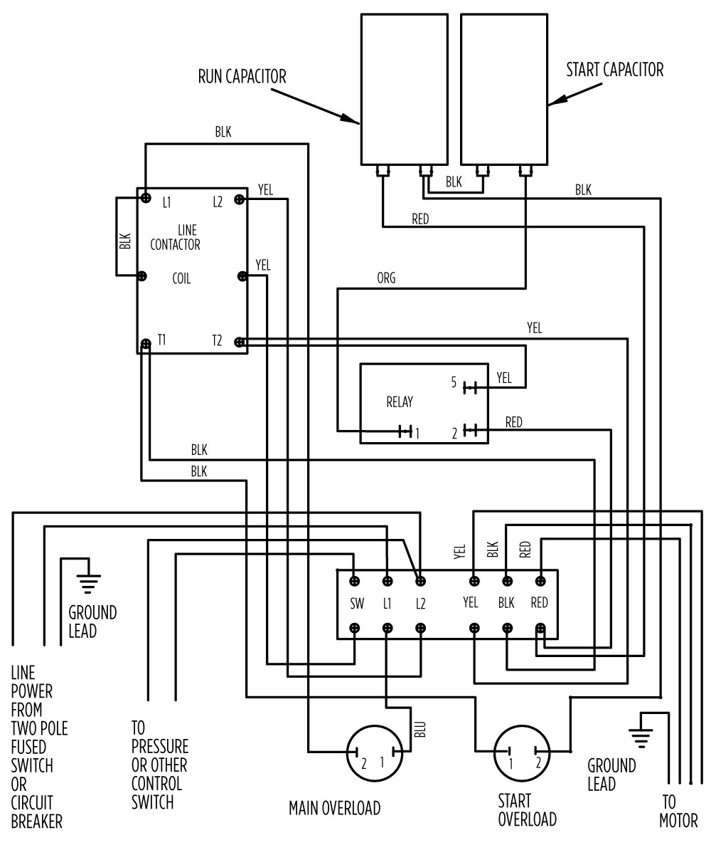 small resolution of aim manual page 55 single phase motors and controls motor water pump pressure switch wiring diagram franklin control box wiring diagram