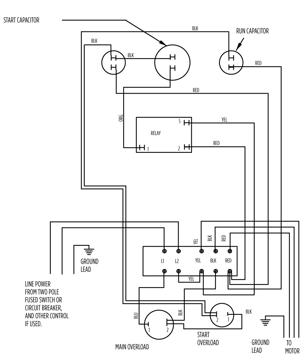 Single Phase Motor Control Wiring Diagram