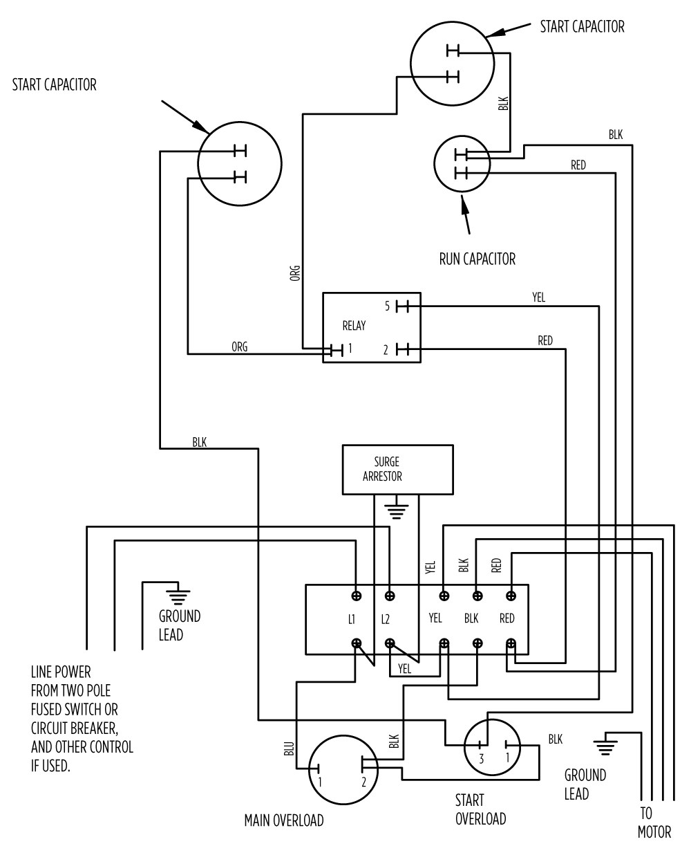 Franklin electric motor wiring diagram single phase motors and controls design