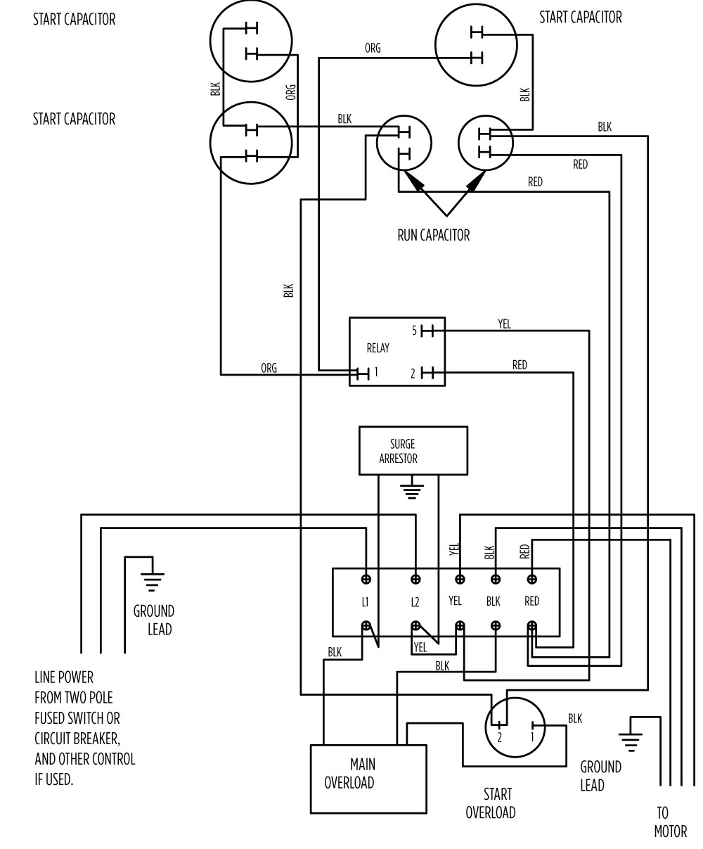 small resolution of  electrical circuit of 10 hp standard 282 202 9210 or 282 202 9230