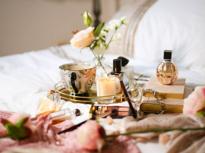 Blog Photography | How to Be More Creative With Your Photos feat perfume on bed