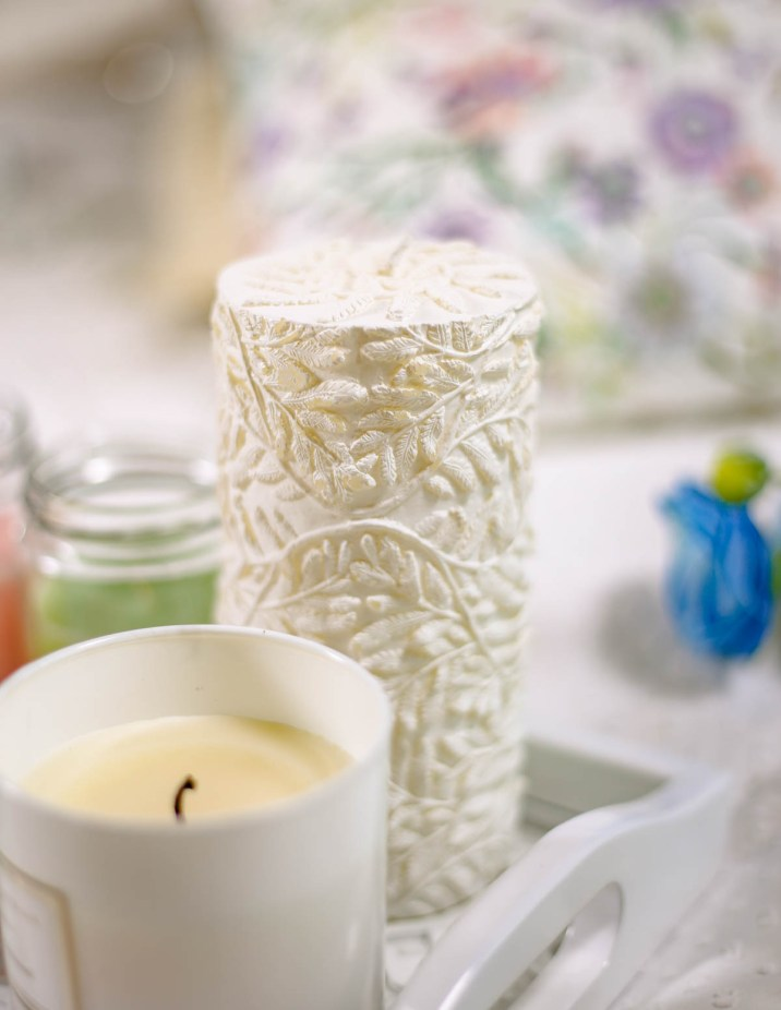 Spring Home Decor Ideas   Easy Ways to Freshen Up Your Home feat Zara Home RAISED FERN DESIGN CYLINDRICAL CANDLE