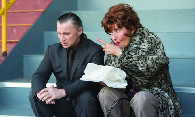 Robert Carlyle & Emma Thompson in THE LEGEND OF BARNEY THOMPSON, in cinemas 24th July. © Icon Film Distribution