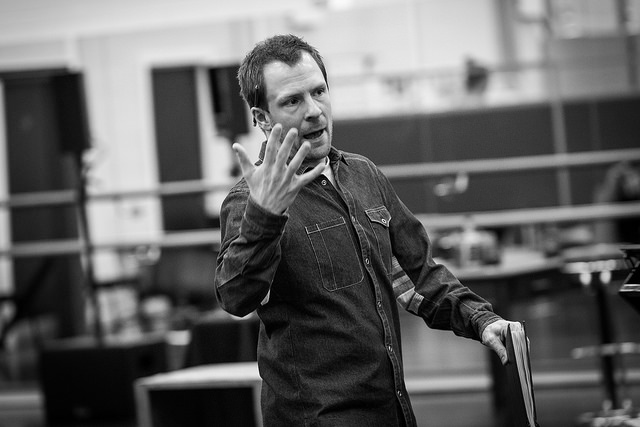 Director Nikolai Foster in rehearsals for Breakfast at Tiffany's