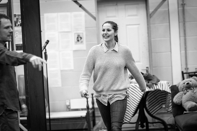 Katy Allen in rehearsals for Breakfast at Tiffany's.