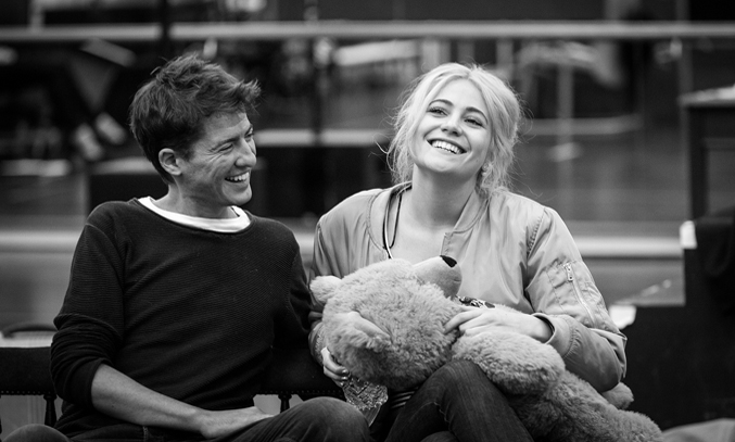 Matt Barber and Pixie Lott in rehearsals for Breakfast at Tiffany's. Credit: Sean Ebsworth Barnes
