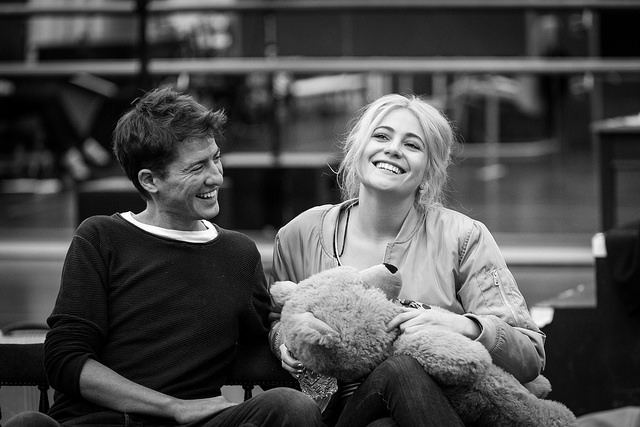 Matt Barber and Pixie Lott in rehearsals for Breakfast at Tiffany's.