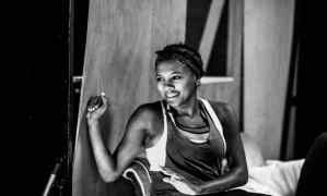 Jade Anouka in rehearsals for Doctor Faustus. Image Credit: Matt Humphrey