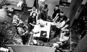 The company in rehearsals for Doctor Faustus. Image Credit: Matt Humphrey