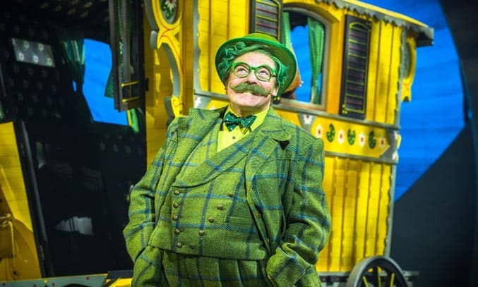 Rufus Hound as Mr Toad in THE WIND IN THE WILLOWS. Photo by Marc Brenner. ® Jamie Hendry Productions