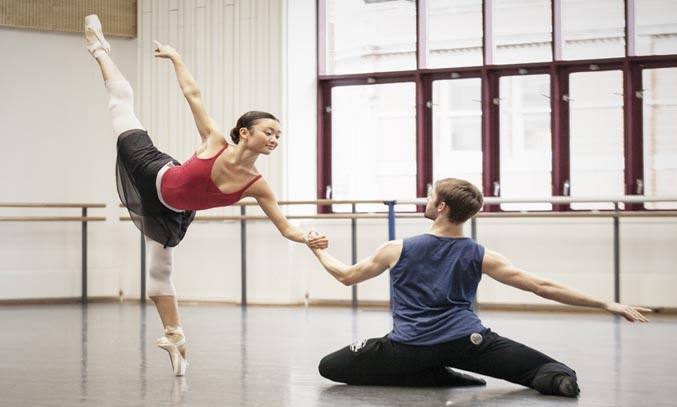Yaoqian Shang and Lachlan Monaghan rehearse BRB's ALADDIN. Photo: Ty Singleton