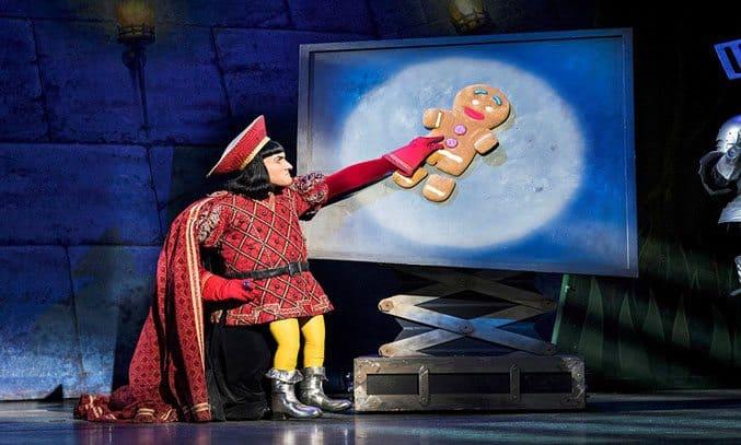 Samuel Holmes as Lord Farquaad in SHREK THE MUSICAL UK Tour