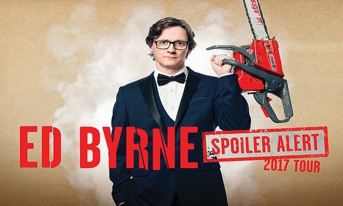 Ed Byrne SPOILER ALERT UK Tour Banner
