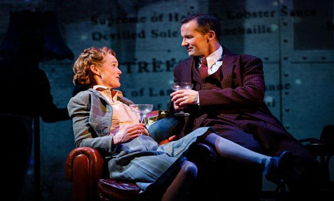 Isabel Pollen as Laura and Jim Sturgeon as Alec in BRIEF ENCOUNTER. Photo: Steve Tanner