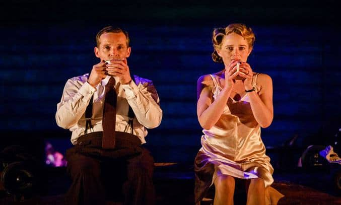 Jim Sturgeon as Alec and Isabel Pollen as Laura in BRIEF ENCOUNTER. Photo: Steve Tanner